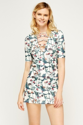 Cross Front Mini Shift Dress