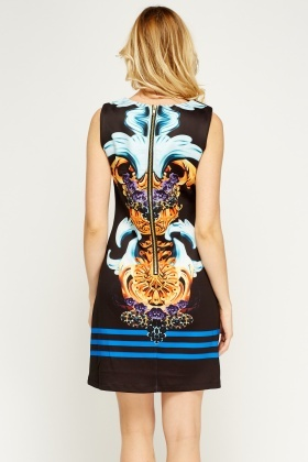 Embellished Print Pencil Dress