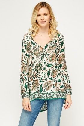 Floral Printed Casual Top