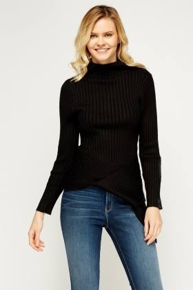 High Neck Loop Wrapped Jumper