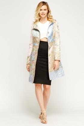 Light Pink Patchwork Jacket