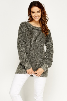 Grey Speckled Jumper