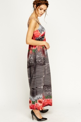 Spagetti Strap Sweat Heart Maxi Dress
