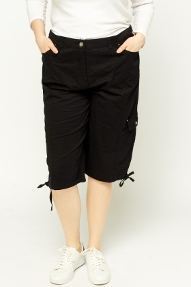 3/4 Combat Black Trousers