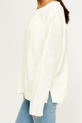 Cream Knitted Jumper