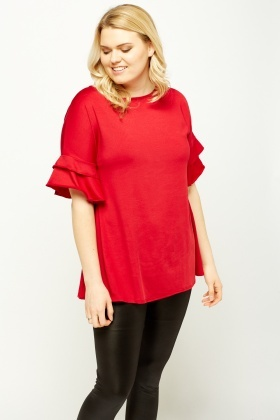 Flare Sleeve Casual Top
