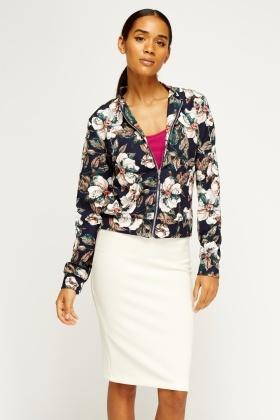 Floral Printed Bomber Jacket - Just £5