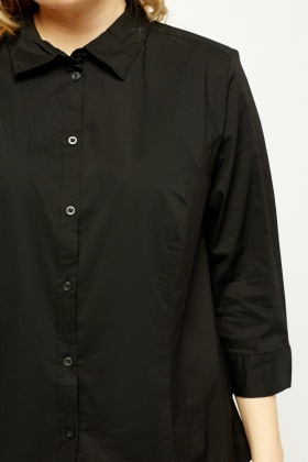 3/4 Sleeve Cotton Shirt