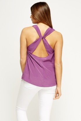 Detailed Back Satin Top