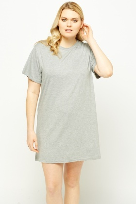 Logo Back Grey Night Dress