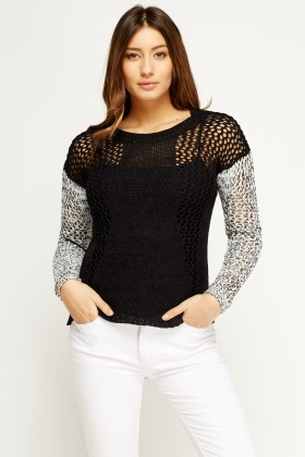 Loose Knit Contrast Jumper