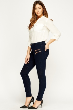 Skinny Fit Navy Jeans