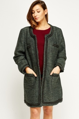 Speckled Chained Trim Jacket