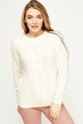 Casual Cable Knit Jumper