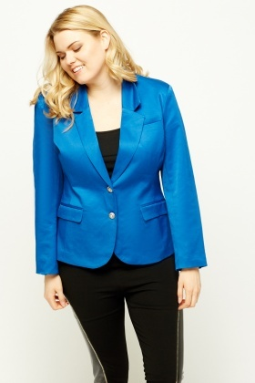 Elbow Patch Fitted Blazer