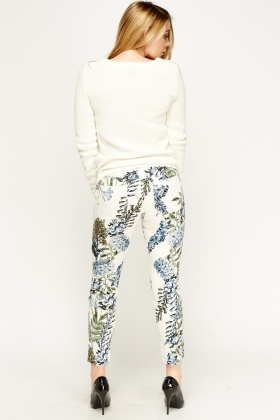 Floral Thin Trousers