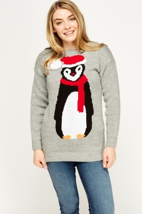 Penguin Grey Jumper