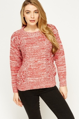 Speckled Knit Casual Jumper