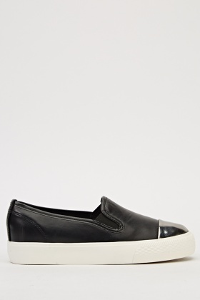 Contrast Slip On Shoes