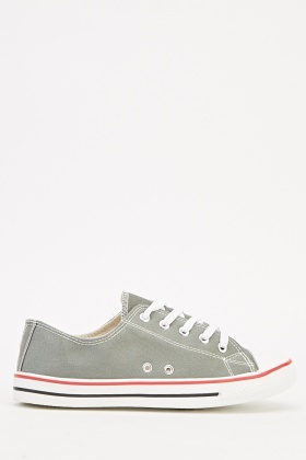 Grey Basic Plimsolls