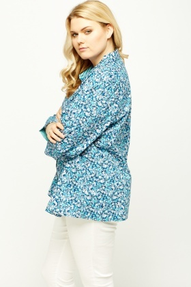 Blue Multi Floral Shirt