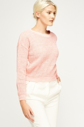 Cable Knit Cropped Jumper