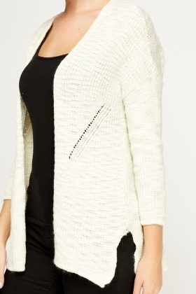 Cream Knitted Cardigan