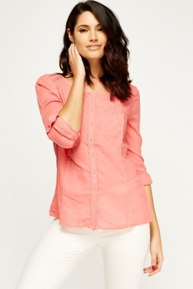 Button Up Pink Top