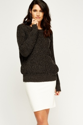 Charcoal Knitted Jumper
