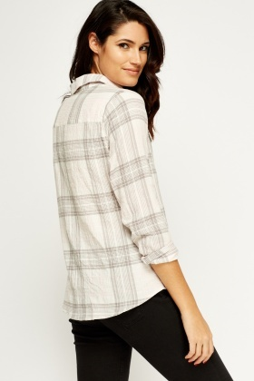 Checked Cotton Blend Shirt