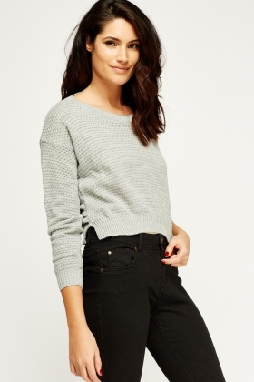 Cropped Knitted Jumper