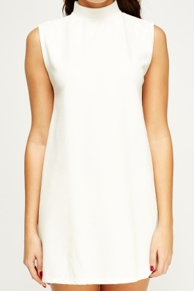 High Neck A-Line Dress