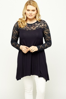 Lace Insert Swing Top