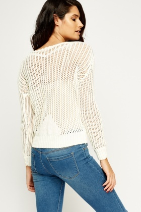 Loose Knit Ivory Jumper