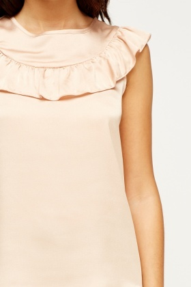 Nude Flare Silky Top