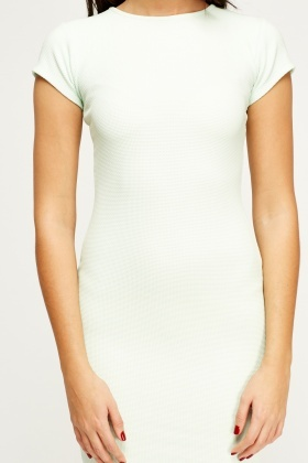 Textured Mini Bodycon Dress