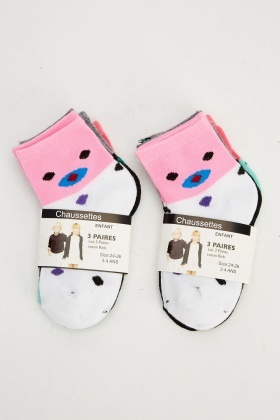 Pack Of 6 Printed Socks