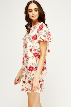 Frilled Floral Printed Dress