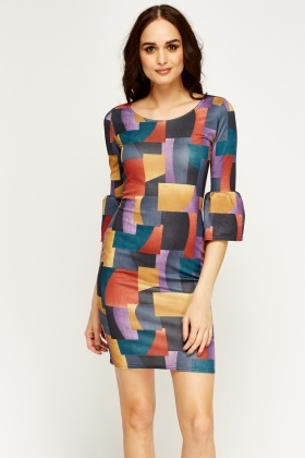 Geo Print Shift Dress