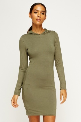 Hooded Bodycon Dress