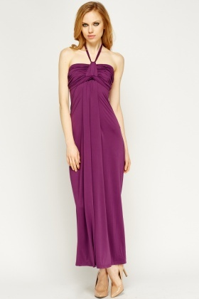 Knot Bandeau Maxi Basic Dress