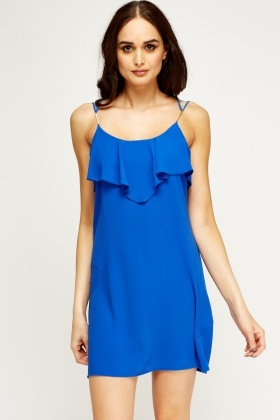 Royal Blue Frilled Dress