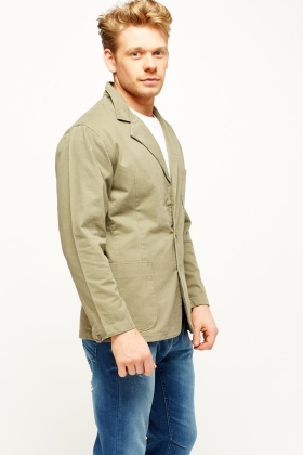 Fitted Casual Mens Jacket