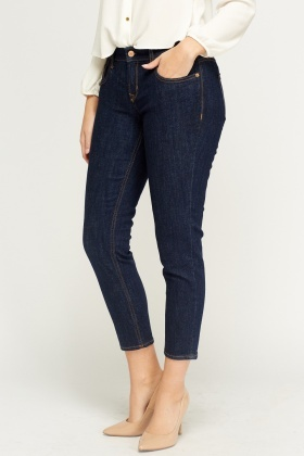 Dark Blue Boyfriend Jeans