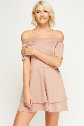 Off Shoulder Swing Dress