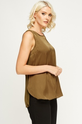 Olive Sleeveless Top