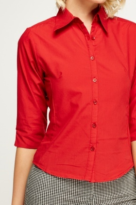 Short Sleeve Red Shirt