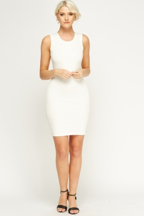 Embossed Bodycon Dress