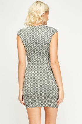 Printed Bodycon Dress