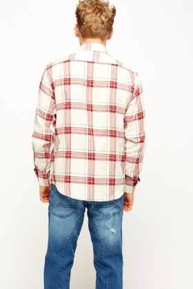 Red Multi Checked Shirt